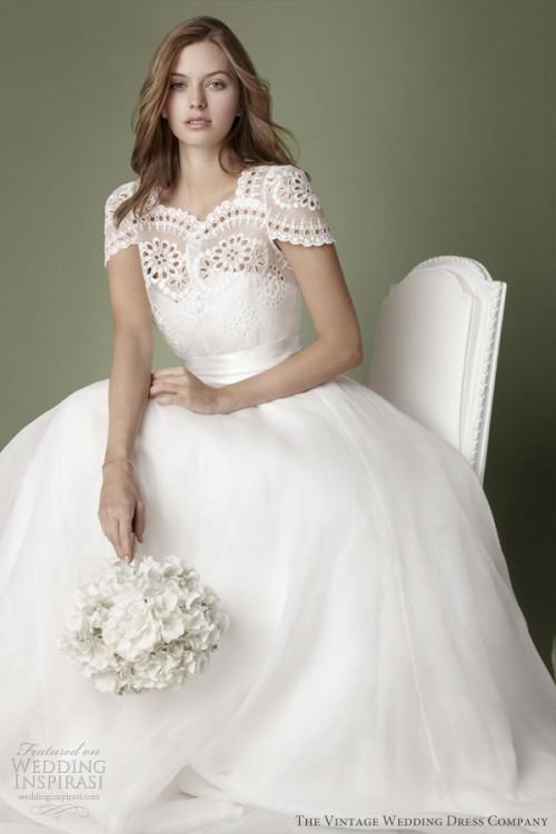 Decades Vintage Dresses Collection For Romantic Brides