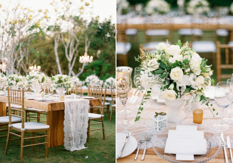 Picture Of delicate and intimate all white bali wedding  21