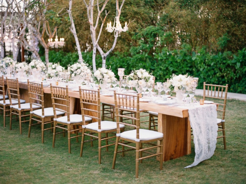 Picture Of delicate and intimate all white bali wedding  25