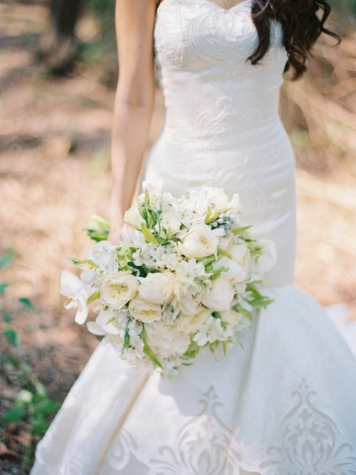 Delicate And Intimate All White Bali Wedding
