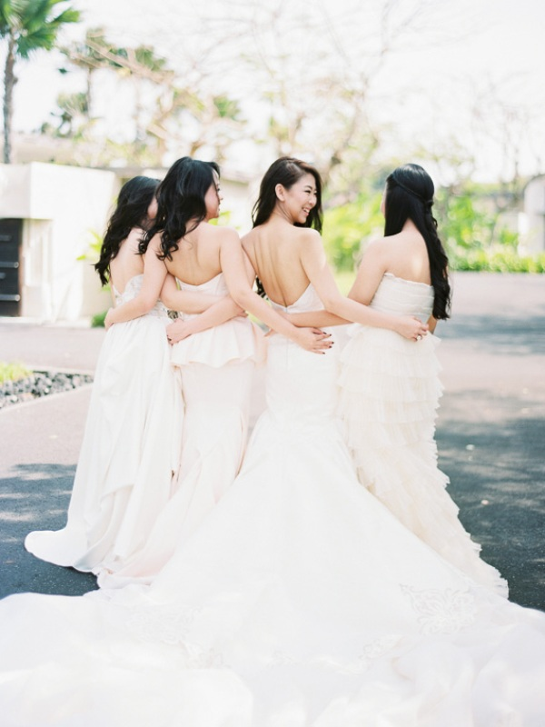 Picture Of delicate and intimate all white bali wedding  7