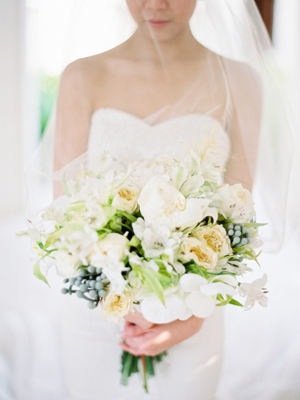 Picture Of delicate and intimate all white bali wedding  8