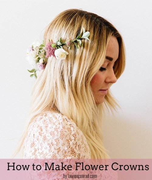 Delicate DIY Fresh Flower Crown To Make