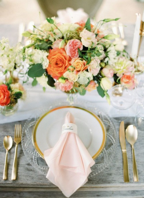 40 Delicate Peach And Cream Wedding Ideas