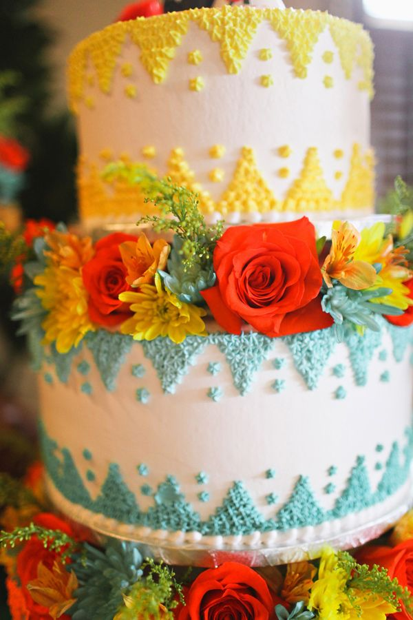 Picture Of Delicious And Beautiful Boho Chic Wedding Cake 6