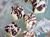 white chocolate topped with dark chocolate is always a good idea if you don't know what to choose