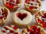 mini pies with hearts on top and with cherry or strawberry jam are very heart-warming for a cold winter wedding