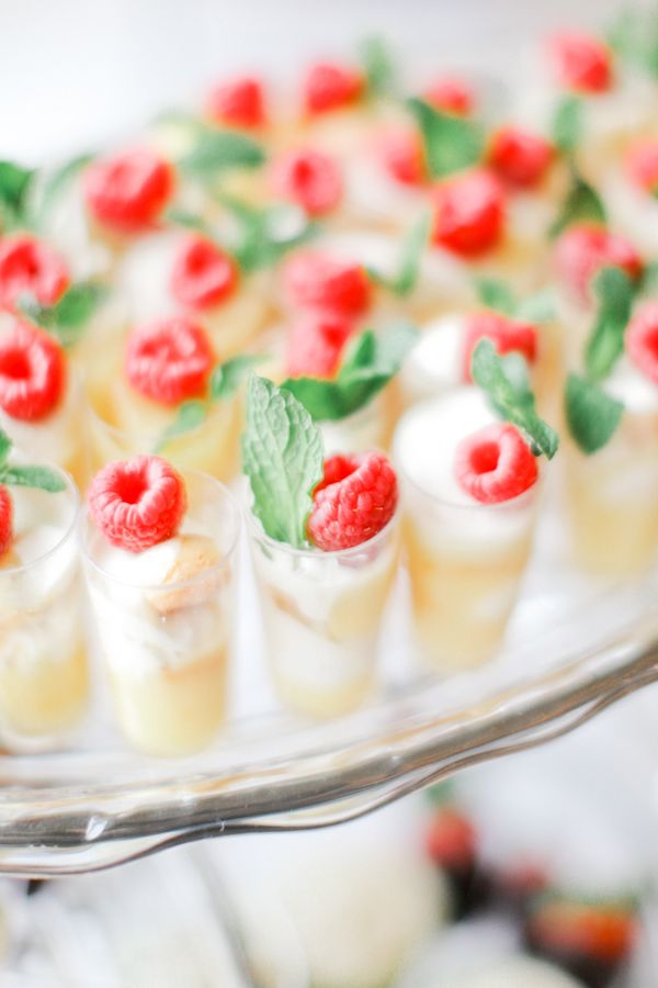 mini shortcakes topped with raspberries and fresh mint are refreshing and delicious, great for spring and summer
