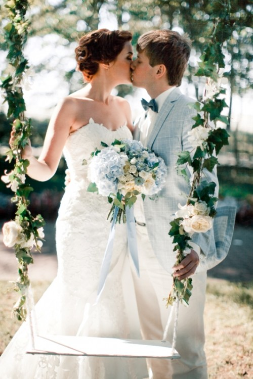 Delightful Pale And Powder Blue Wedding Inspiration