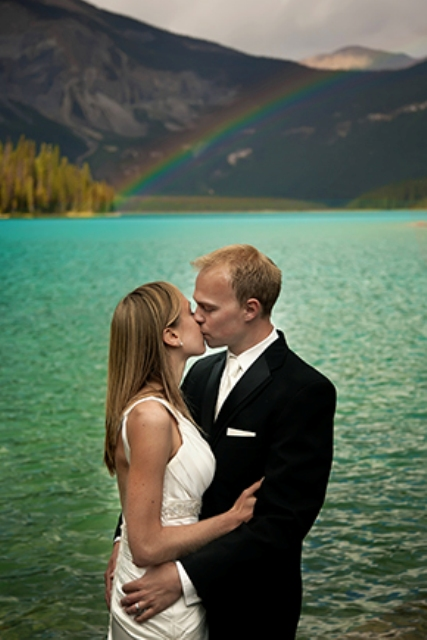 Destination Photo Shoot On Emerald Lake In British Columbia