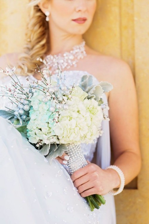 Disney's Frozen Wedding Inspiration With Elsa Wedding Dress