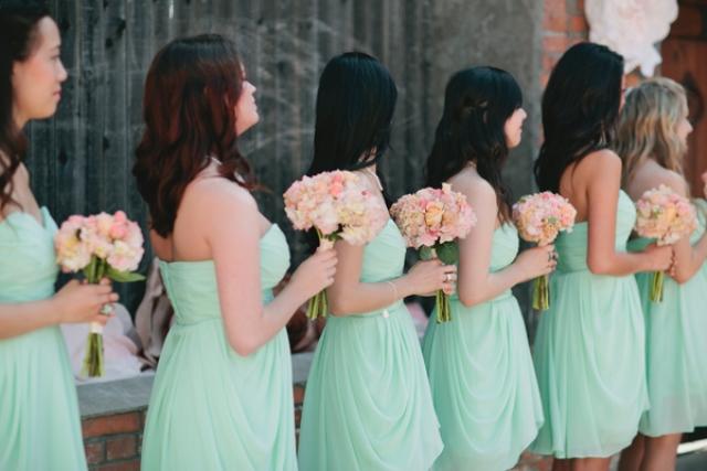 Diy Aquamint Cotton Mill Wedding