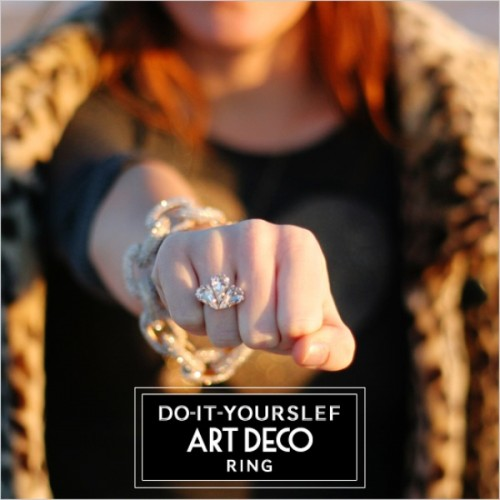 Diy Art Deco Ring Perfect Gift For Bridesmaids