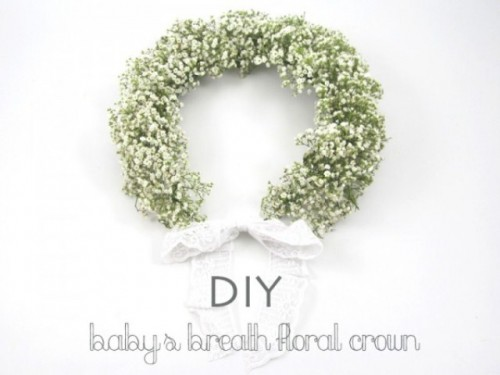 Diy Babys Breath Floral Crown