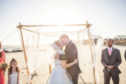 Diy Beach Wedding In Coral And Turquoise