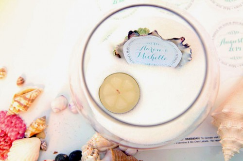 Diy Beach Wedding Tea Light Centerpiece