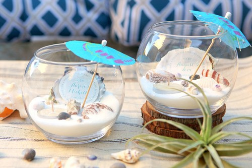 Beach Wedding Decoration Ideas Diy : Diy beach wedding tea light centerpiece weddingomania