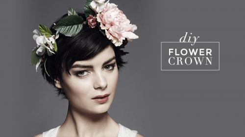 DIY Chic Flower Crown (via stylecaster)