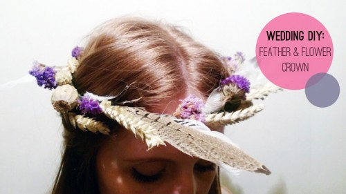 DIY Feather Flower Crown (via bespoke-bride)