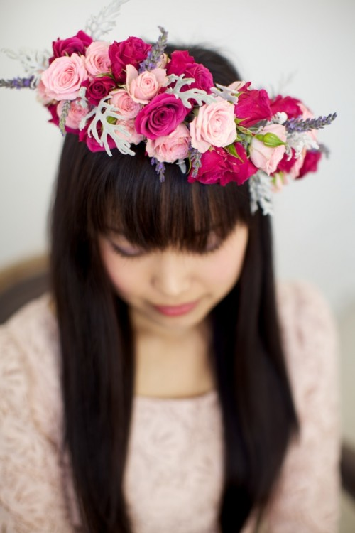 DIY Wild Roses And Lavender Flower Crown (via bridalmusings)