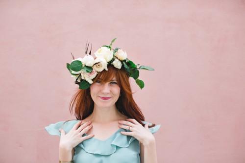 DIY Floral Crown (via ruffledblog)