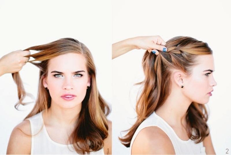 Diy beautiful french braid bun hair for your wedding look diy beautiful french braid bun hair for your wedding look solutioingenieria Choice Image