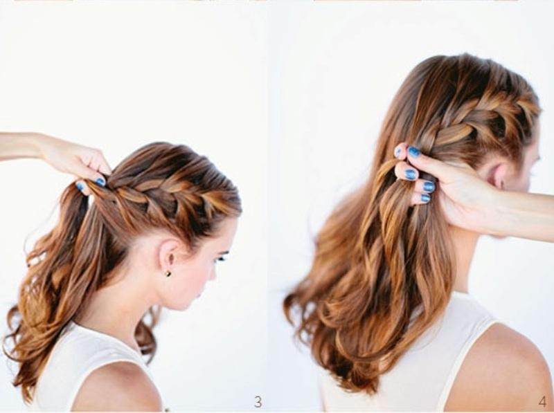 Picture of diy beautiful french braid bun hair for your wedding look diy beautiful french braid bun hair for your wedding look ccuart Images