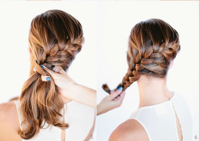 Picture of diy beautiful french braid bun hair for your wedding look ccuart Images