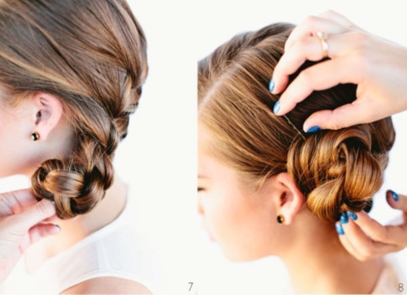 Picture Of Diy Beautiful French Braid Bun Hair For Your
