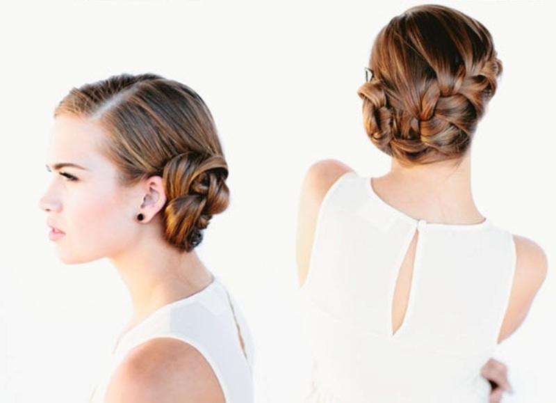 Diy beautiful french braid bun hair for your wedding look diy beautiful french braid bun hair for your wedding look ccuart Images
