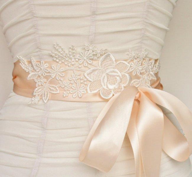 Diy Beautiful Lace Bridal Sash