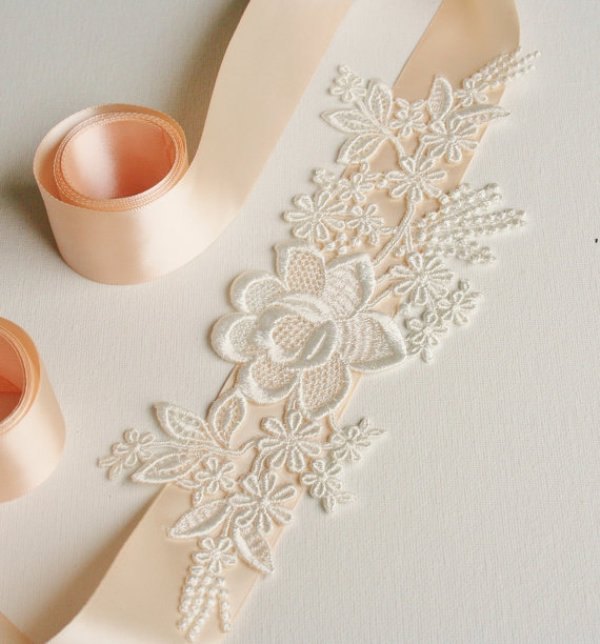 Picture Of Diy Beautiful Lace Bridal Sash