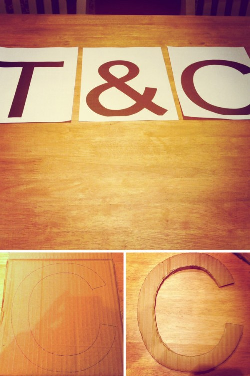 Diy Bespoke Sign With Your Names