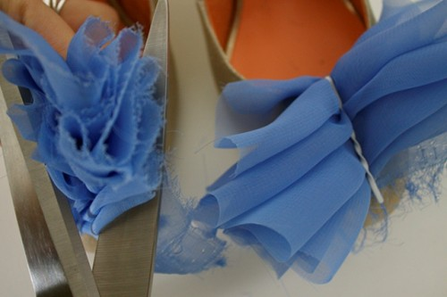 Diy Blue Flower Shoe Pins