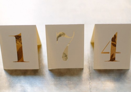 DIY Botanical Table Numbers