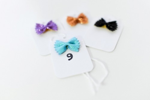 Diy Bow Tie Pasta Escort Cards