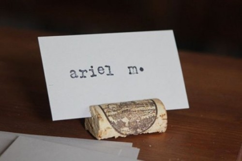 DIY Cork Placecards For A Vineyard Wedding