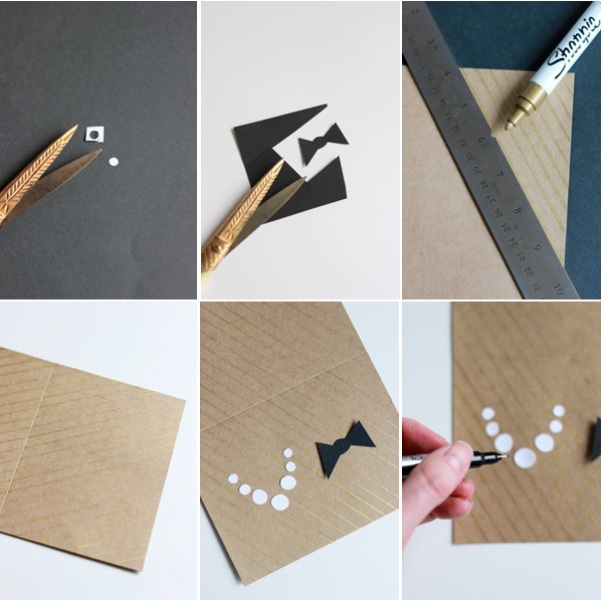 Picture Of Diy Cute Paper Card For The Bridal Couple