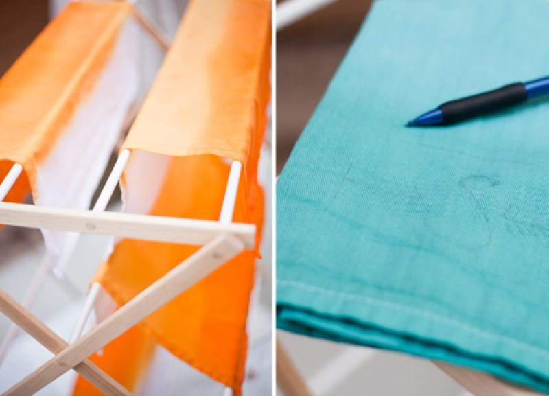 Diy Dip Dyed Napkins With Embroidered Monogram