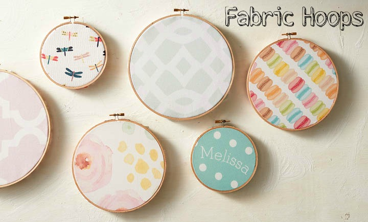 Picture Of diy fabric hoops for wedding decor or favors  1