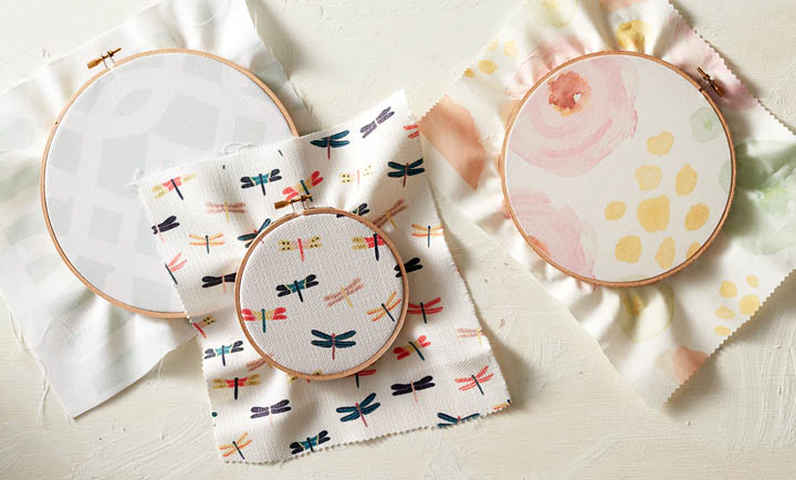 Picture Of diy fabric hoops for wedding decor or favors  5