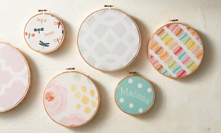 Picture Of diy fabric hoops for wedding decor or favors  6