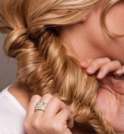 Diy Fishtail Bun Wedding Hair