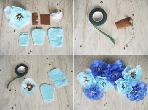 Diy Floral Mobile For Your Bridal Shower Decor