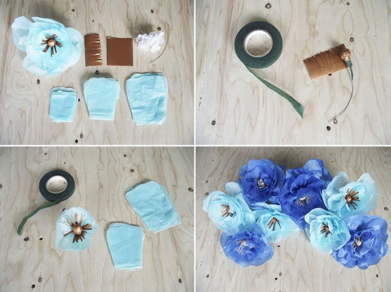 Picture Of Diy Floral Mobile For Your Bridal Shower Decor