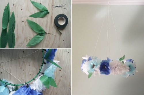 Diy Floral Mobile For Your Bridal Shower Decor