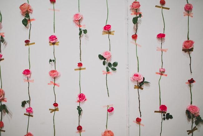 Flower Wall Decor diy fresh flower wall for wedding decor - weddingomania