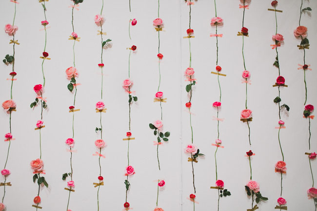Diy Fresh Flower Wall For Wedding Decor