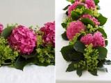 Diy Fresh Hydrangea Garland For Wedding Table Decor