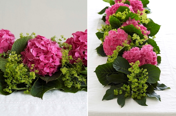 fresh flower garlands for weddings picture of diy fresh hydrangea garland for wedding table decor 4361